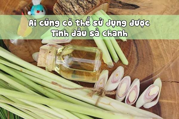 Đối tượng sử dụng tinh dầu sả chanh