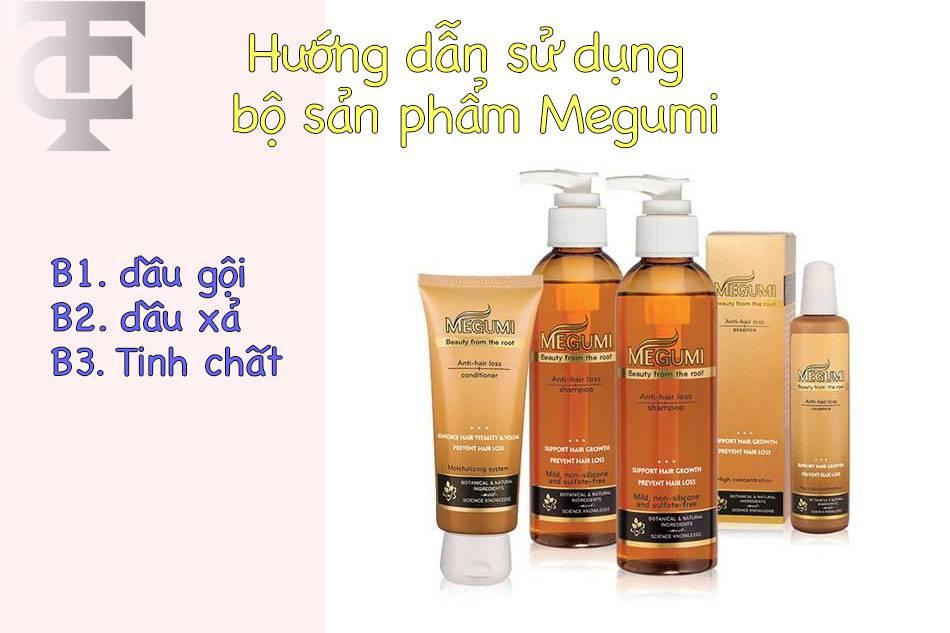 Hướng dẫn sử dụng bộ sản phẩm trị rụng tóc của Megumi đạt hiệu quả cao