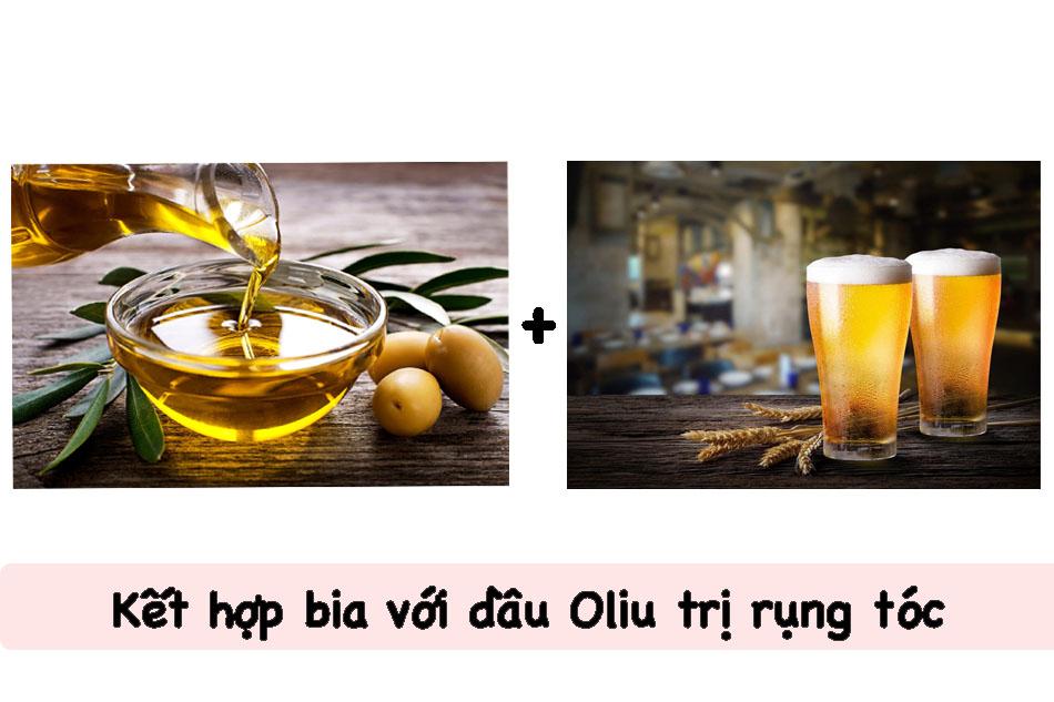 Kết hợp bia với dầu Oliu trị rụng tóc