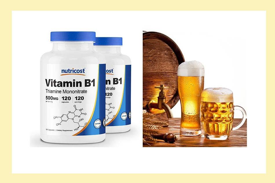 Bia với Vitamin B1