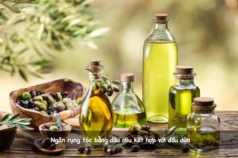 Ngăn rụng tóc bằng dầu oliu kết hợp với dầu dừa