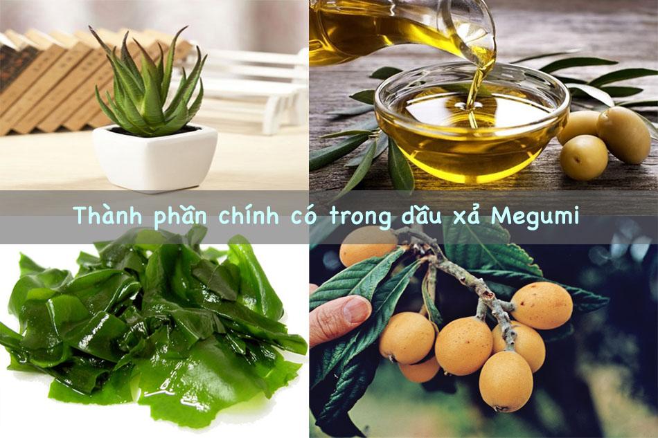Thành phần chính có trong dầu xả Megumi