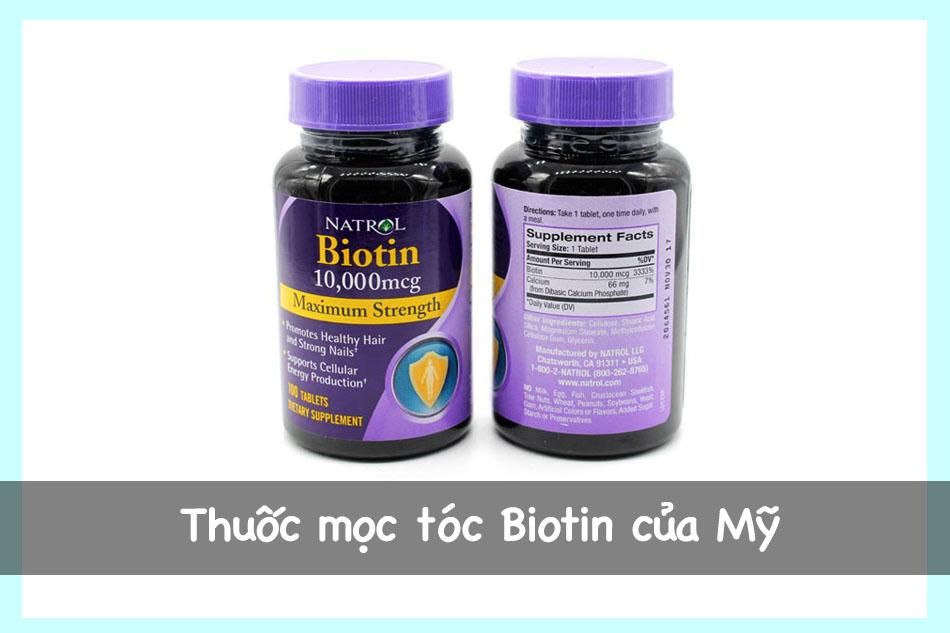 Thuốc mọc tóc Biotin của Mỹ