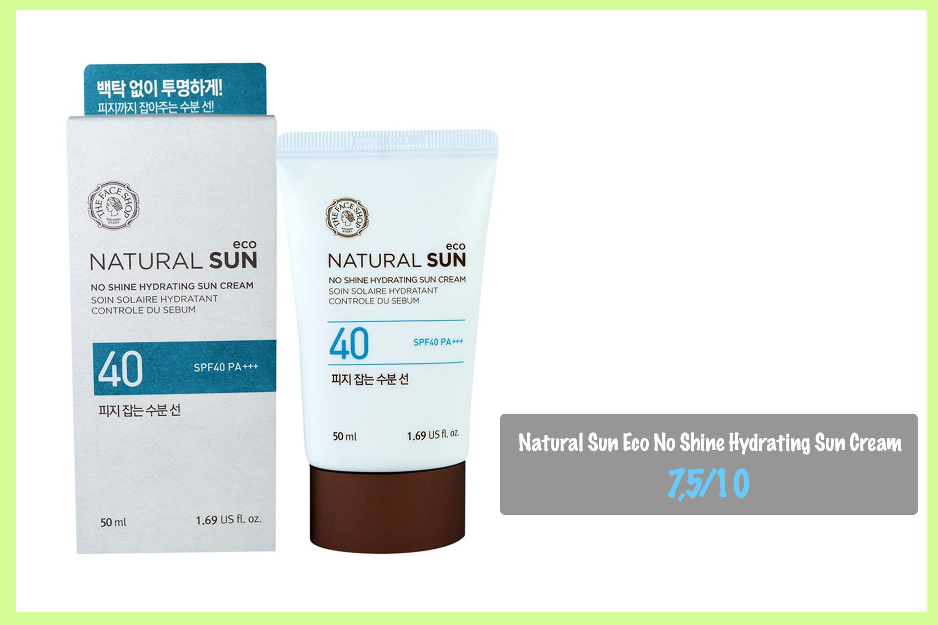 Kem chống nắng cho da khô nhạy cảm Natural Sun Eco No Shine Hydrating Sun Cream