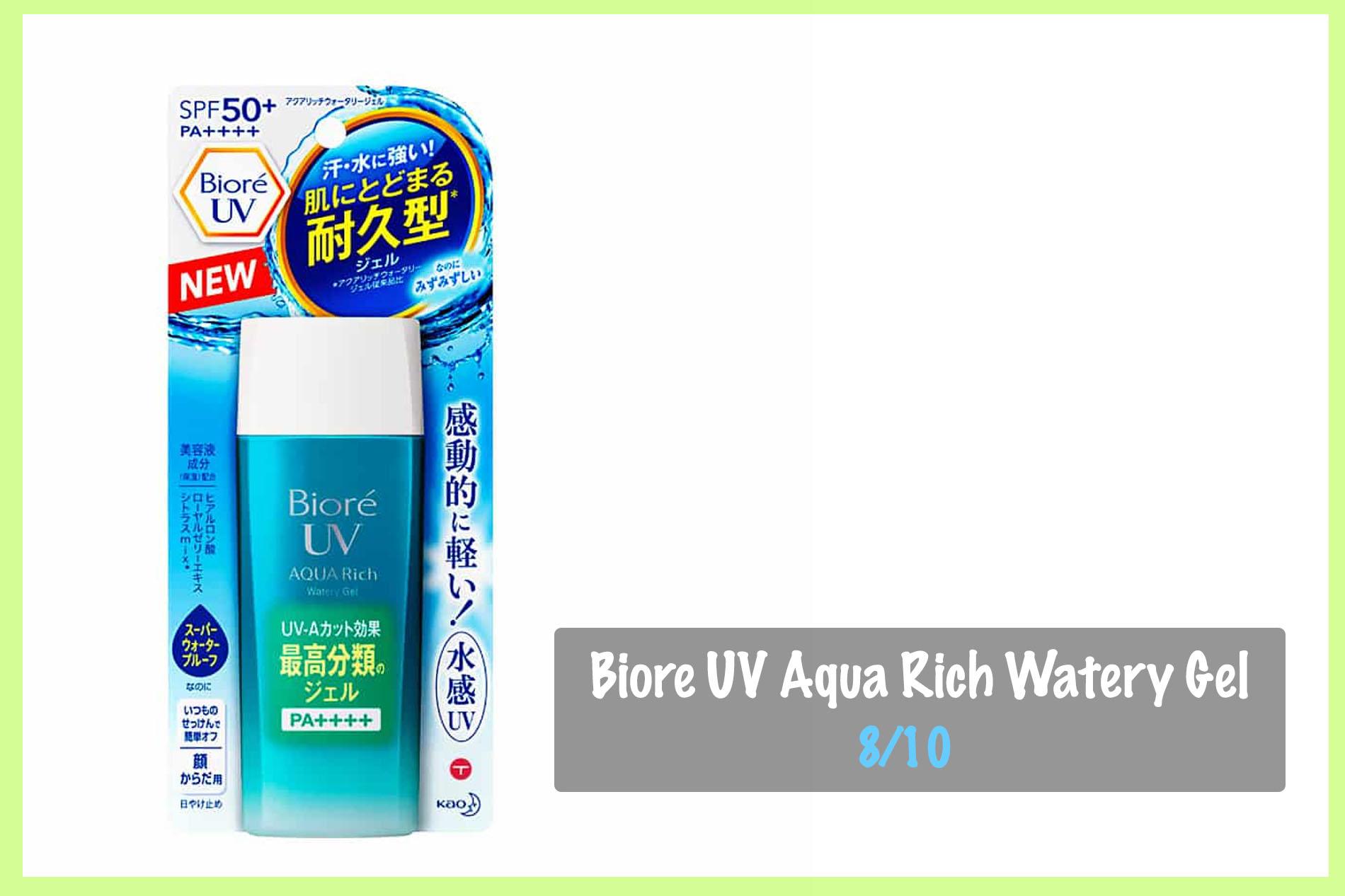 Biore UV Aqua Rich Watery Gel - kem chống nắng dưỡng ẩm tốt cho da khô